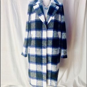 NEW Forever 21 Plaid Classic Coat
